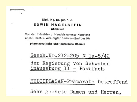 Historischer Brief auf Briefkopf
