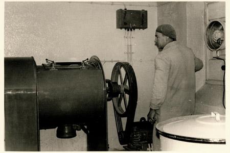 Historische Mischmaschine für Pulver Mischungen